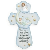 "7"" Sweet Dreams ""Guardian Angel""  Wall Cross. Dimensions: 7.25""H X 4.8""W. Materials: Resin/Stone Mix"