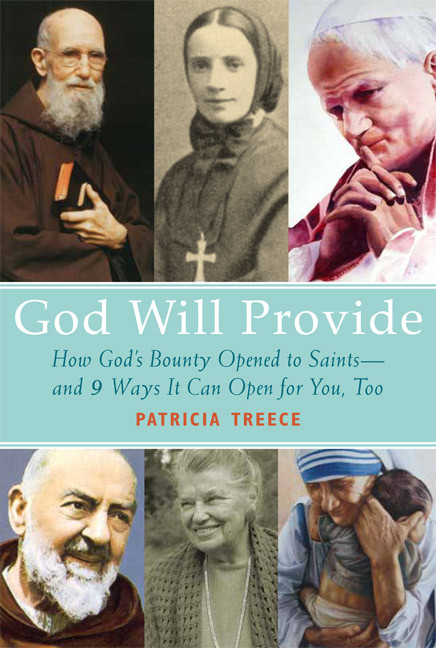 A specialist in human goodness, divine providence, and recent saints, Patricia Treece offers the fruits of years of research on how God meets the financial needs, in varying ways, or his people. Mother Teresa of Calcutta, for instance, refused to let anyone raise money in her name, insisting if God wanted something done through her, he'd send the money.  Other friends of God did seek donations and got them in amazing ways.  In this lively book she offers copious examples of miracles, answered prayers and nine universal principles to live by so you can join those who know, in good times or bad, God will provide.
