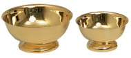 "Baptismal Lavabo Bowl 338 - Silver plated or 24K gold plated Baptismal or Lavabo Bowl. Comes in a 4"", 6"", 8"" or 10"" Diameter"