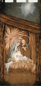 Nativity Woven Wall Banner