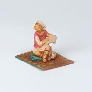 Fontantini Ezbon Figurine, 2 piece set Rug Boy on Mat
