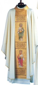 Chasuble  in Lana Oro Barre Fabric