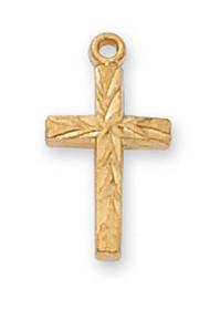 Gold over Sterling Silver Cross Pendant - J8001