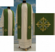 Imported from Italy. Primavera Fabric (100% Polyester) with embroidery on the front and back. Matching Chasuble, Dalmatic &  Deacon Stole Available. Available in Purple, Red, Rose, White and Green.. These items are imported from Europe. Please supply your Institution's Federal ID # as to avoid an import tax. Please allow 3-4 weeks for delivery if item is not in stock