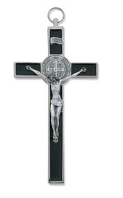 "8"" Black Epoxy St. Benedict Wall Cross"