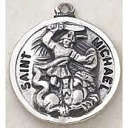 St. Michael Medal on a 24 inch Chain