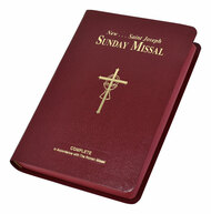 Now in Large Type for easy reading, this complete and permanent Saint Joseph Sunday Missal is a comprehensive, all-inclusive Missal that provides everything necessary to fully participate in each Sunday, Sunday vigil, and Holy Day Mass. With a lovely, flexible burgundy cover and burgundy page edges, the Saint Joseph Sunday Missal contains the lectionary readings and the celebrant's and people's prayers (in bold face) for Sundays and Holy Days. This beautiful Missal offers the complete 3-year cycle for all Sunday readings, conveniently repeating prayers for each cycle to eliminate unnecessary page-turning. Perfect for personal use or gift-giving, this Large Type Saint Joseph Sunday Missal is designed to be treasured for a lifetime and also features a sturdily sewn binding, a treasury of prayers, and over 50 magnificent four-color illustrations.