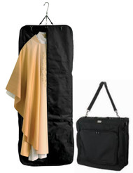 "Light and easy to fold, practical for use as a suitcase or shoulder bag, with detachable shoulder strap. Extra length and generous capacity. Long vestments, albs and personal clothing can easily be packed. Made in man-made Microfiber polyester with an extra strong zipper. Size, when open: 64-1/2"" L, 23-1/2"" W & 2-1/3"" D. Two large pockets outside and two inside. These items are imported from Europe. Please supply your Institution's Federal ID # as to avoid an import tax. Please allow 3-4 weeks for delivery if item is not in stock."