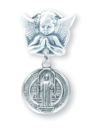 St. Benedict Baby Angel Pin1677