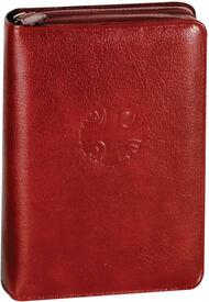 "Leather carrying case protects your edition of CHRISTIAN PRAYER soft cover. Choose option for Large or Regular Soft Cover Text *Large Print cover measures 9 1/2""H X 6 1/4""W X 2 1/4""D  *Regular Print cover measures 8 1/4""H X 5 1/4""W X 2 1/2""D"