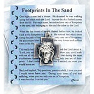 Footprints in the Sand Prayer Card and Token