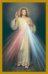 "Divine Mercy Holy Card 2 3/4"" x 4 1/4""  100 per box"