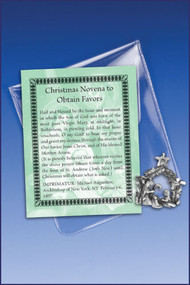 Christmas Novena Prayer and Charm Pocket