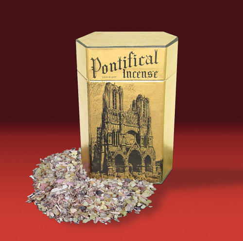 Pontifical Incense comes in a 1 pound box