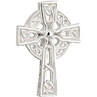 Silver plated celtic cross tie tack with exquisite knot work artistry. Great gift for confirmation. Made in Ireland and comes Gift Boxed.