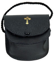 """This Gusset Burse is made of Genuine Leather. Fully Lined and includes a Neck Cord. Dimensions: 3"""" x 3"""" x 1"""" deep"""