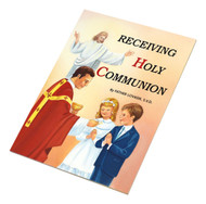 "St Joseph Picture Books ""Receiving Holy Communion"". Helps children understand the meaning of receiving Communion within the broader tradition of the Faith. Softcover. Full-color illustrations."