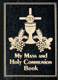 "First Communion Mass and Holy Communion Hardcover Missal. A compact resource for the Order of the Mass. The book measures 3 3/4""W x 5 1/4""H. Black or White. Imprinting available at an additional charge"