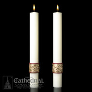 Sacred Heart Side Altar Candles. Enhance the Presence of the Paschal Candle-a perfect decorative touch! 51% Beeswax ~ Made in the USA