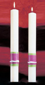 Easter Glory Side Altar Candles. Enhance the Presence of the Paschal Candle-a perfect decorative touch!. 51% Beeswax ~ Made in the USA