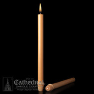 Unbleached 51% Beeswax. Long symbolic of penitential preparation-call attention to this most special season of preparation with the use of these altar candles throughout the Lenten season or just during Holy Week.