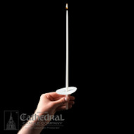 "The Congregational Tapers are used for Easter Vigil Services and other ceremonies where the entire congregation participates. Packed with Bobeches. Beeswax in sizes 11"", 14"" or 18"", or Stearine, 9"" or 14""."