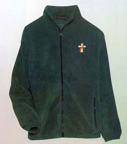 Full Zip Jacket for clergy or Deacon ~ 100% Polyester, Wash Tested ~ Easy Care-Super Durable-Anti Pill. 13.75 oz~ Elasticized Cuffs ~ Reinforced Pockets. Green or Black.Sizes Sm, Med, Lrg, XLrg, 2XL, 3XL, & 4XL