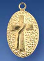 Sterling Silver Gold Plate Deacon Cross Medal includes the chain. Also available in 14K Gold. Please call 1 800 523 7604 for pricing.