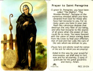 St. Peregrine, Prayer Card with Embossed Medal