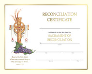 "Pre-printed Certificates of Reconciliation, Spiritual Collection 8"" x 10"" Reconciliation Certificates ~ pre-printed certificates. 50 certificates per box."