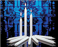 These high quality, White Stearine candles may be used for a variety of different ceremonies and vigils both in the church and outdoors throughout the year. They are available in three different sizes.