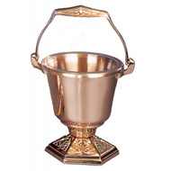 Supplied with sprinkler and  clear plastic liner for interior of holy water pot