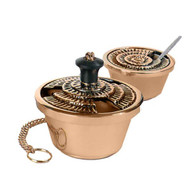 Censors and Boats are available in bronze or brass. Finishes available are high polish or satin. Oven baked for durability. Censors and boats come supplied with spoon that is also available separately as an accessory