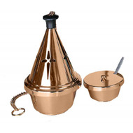 Censer and Boat Metals available are bronze or brass. Finishes available are high polish or satin. Oven baked for durability. Supplied with spoon that is also available separately as an accessory