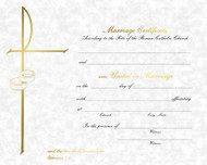 Pre Printed 50 - 8 x 10 Parchment Marriage Certificates. Available in Blank/Create Your Own or Pre-printed certificates