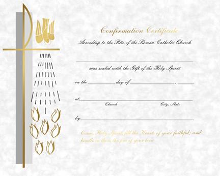 Confirmation Certificates, Laser or PrePrinted - St. Jude ...