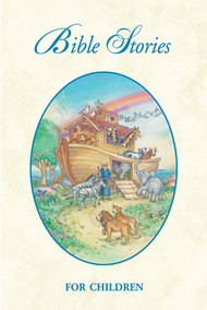 "Bible Stories for Children Booklet. 25 per box ~ 4"" x 6"" ~ 48 pages with a glossy cover."