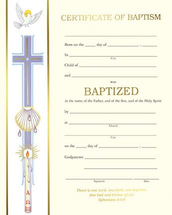 Preprinted certificates