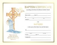 XS 102 ~ Pre Printed Certificate of Baptism, Spiritual Collection
