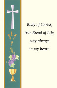 Communion Holy Card, Banner Style