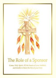 "Confirmation Sponsor Folder, Spiritual Sponsor Folders measure 5"" x 7"" (folded), 100 per box. Coordinating Certificates Available"
