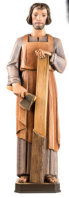 Wood Carved Statue in color, from Demetz Art Studio in Italy.  Statue is Hand Carved in Linden Wood, high relief, shown in traditional colors.  Available in multiple sizes and in fiberglass.  Please inquire at 1.800.523.7604 for pricing