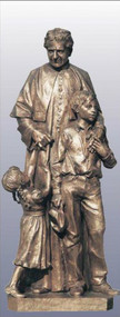 Don Bosco with Children Statue