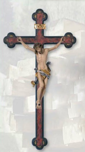 Wood carved Baroque Cross in Various sizes. Also available in Bronze Cast and other colors ~ Please inquire at 1.800.523.7604 for more details
