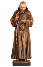 Padre Pio Statue Wood carved in many sizes