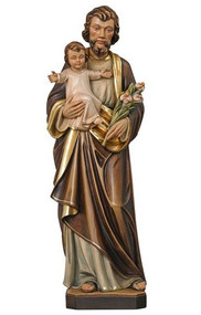 St. Joseph with Christ Child and Lillies Statue