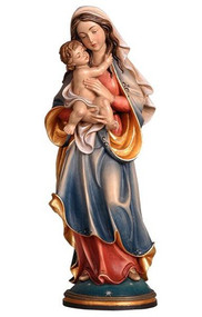 "Statue is hand carved in maple wood and hand painted in oil colors by professional artists.  The sculpture shows all classical features with complete follow through in detail. Available in many sizes including figurine sizes, (range 6"" to 71""), natural wood or bronze cast. Please call 1.800.523.7304 for special orders and pricing Prices reflect hand painted wood statues only"