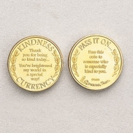 "Pass it On! 1.25"" Diameter ~ 4/pack. Coin Says ""Thank you for being so kind today....You've brightened my world in a special way. Flip Side says ""Pass it on to someone who has been especially kind to you ""."