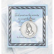 Inspirational Moments Prayer Card and Serenity Prayer Token,