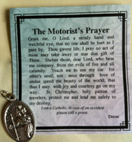 Inspirational Moments, Motorist's Prayer Card with St. Christopher Medal